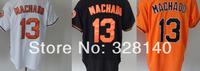 No.13 Manny Machado White Orange Black  Jersey Orioles#13 Manny Machado White Orange Black Cool Base Baseball Jersey
