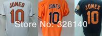 No.10 Adam Jones White Orange Black  Jersey Orioles Outfielders#10 Adam Jones  White Orange Black Cool Base Baseball Jersey