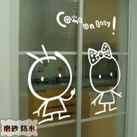 Comeonbaby diy cartoon wall stickers glass stickers sticker cabinet m181