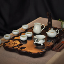 Tea set belt solid wood tea tray set ceramic kung fu tea tz031