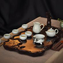 Tea set belt solid wood tea tray set ceramic kung fu tea tz031