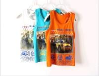 Free shipping 2014 Summer new boys E Dog  vest boys car vest 3 color wholesale trade