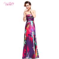 2014 tube top evening dress fashion costume print sexy slim evening dress