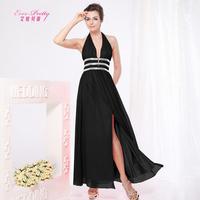 Halter V-neck Sleeveless Fashion Womens Party Dress  sexy slim chiffon halter-neck V-neck placketing full dress