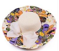 2014 New arrive Hat women's folding summer sunscreen sun hat anti-uv sunbonnet beach cap sun hat