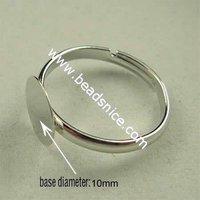 Free Shipping Children's ring base,brass,Adjustable base diameter:10mm inside diameter 14mm ID10378