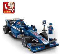 Free shipping Sluban 287pcs DIY Plactic Building Block sets children educational bricks blocks toys gifts F1 1: 24 Racing Car