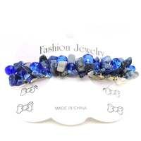 Natural Sodalite Chip gem stone crystal handmade woven hair wear & hearwear jewelry & headwear for girls & Women