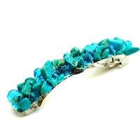 Natural Chip turquoise gem stone crystal handmade woven hair wear & hearwear jewelry & headwear for girls & Women