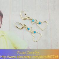 IZE00618 18K Gold Filled luxury Heart earrings 2PCS/LOT