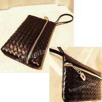 1PC Fashion Black Ladies Small Handbag Change Purse Wallet Phone Bag New