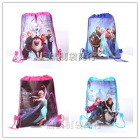 New 2014 Frozen Ice Princess Romantic Woven Double-Sided Printing Kids Backpack 12PCS/lot