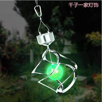 Solar lights solar garden lamp home interior lights garden lights light wind chimes hanging lamp solar panel