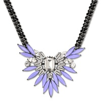Violet Gum & Alloy With A Snaking Chain Blooming Flower Pendant Necklace Women Lady Gifts Exotic Hiphop Rock Jewelry NAG05044WW