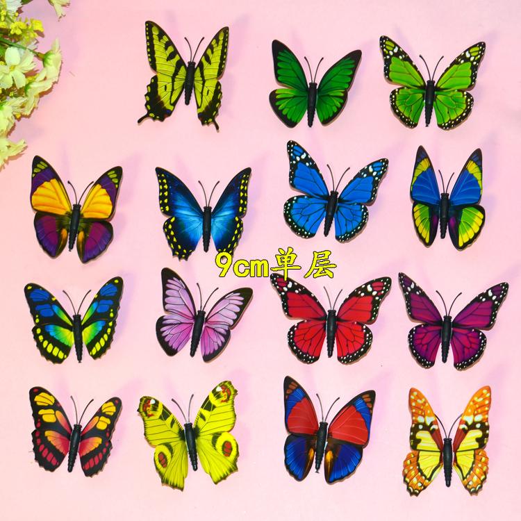 Curtain Home Fridge Decor Butterfly Shape Sticker Pin Glow in the Dark Ornament(China (Mainland))