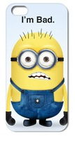 Retail Cute Despicable Me style Hard Case Cover for iphone 4 4S 5 5S 5G free shipping 1pc