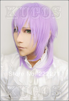 FREE SHIPPING Anime Ludere Deorum TotsukaTsukito Short Light Purple Full Lace Cosplay Wig Costume Heat Resistant + Cap