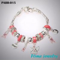 Fashion European Style Charm Bracelets 925 sterling silver bracelets for women Fine bracelets jewelry free shipping PABR-015