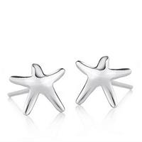 925 pure silver stud earring female earrings small starfish stud earring elegant accessories anti-allergic