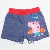 Calca Jeans Vestido Bebe 18m/6y Cotton Kids Wear Comfortable Trousers Print Lovely Baby Boys Peppa Pig Short Pants