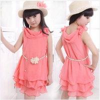 Hot sale 2014 Spring Summer Children Clothing Baby Girls Clothes Girl Dress Kids Frozen Dress child Children Dress