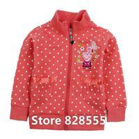 peppa pig,new 2014,spring child clothing,brand,fashion girls clothes,baby sweatshirt,kids hoodies for girls,children outerwear