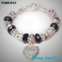 Fashion European Style Charm Bracelets 925 sterling silver bracelets for women Fine bracelets jewelry free shipping PABR-033