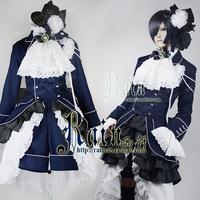 Cosplay Kuroshitsuji / Black Butler Ciel Phantomhive Blue Luxurious Costume Custom-Made