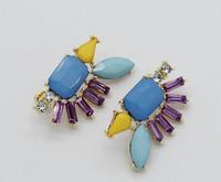Exclusive worldwide marketing of high quality artificial diamond crystal beads gemstone geometric retro earrings C359