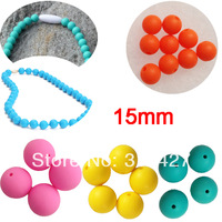 Free Shipping Mommy Silicone Teething Necklace Beads ,silicone beads for necklace,DIY silicone beads