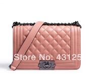 Free shipping 2014Hot sell famous brand new Women's handbag le boy plaid vintage chain bag leboy women handbag bag classic style