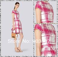 Free shipping 2014 summer new women's round neck short sleeve print dress ML066