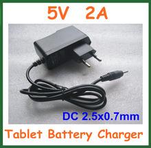 Cargador Universal 5V 2A DC 2.5mm Adaptador de corriente de alimentación para Tablet PC Q88 Q8 Chuwi V88 Cube U35GT2 U39GT U25gt Edición Super(China (Mainland))