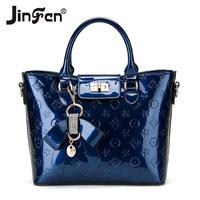 freeshipping bag cover women  leather handbags totes femininas 2014 women's japanned trend leather handbag messenger