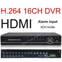 1080P 16 CH H.264 network DVR 4CH audio alarm input standard CCTV DVR 16CH HDMI CCTV DVR