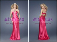 passion satin halter beaded evening gown ab212