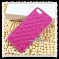 for apple iphone 5 5s luxury chrome aluminum brand designer cc logo sheep pu leather hard back case