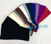 scarf turban free ship head band  Underscarf hijab cap Hijab inner Abaya mixed Colours 25pc/lot free ship