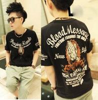 2014 men's clothing hiphop hip-hop bboy short-sleeve T-shirt short-sleeve t shirt top  Free shipping