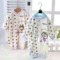 100% cotton baby sleepwear child one piece sleepwear newborn bodysuit baby clothes infant spring and autumn