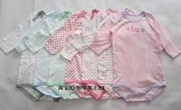 Child 100% cotton long-sleeve bodysuit sleepwear triangle climbing