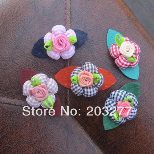 Newest design 50pcs/lot felt flower felt hair accessory can mixed color order(China (Mainland))