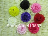 Free Shipping Wholesale Girls Baby Rolled Satin Rose Flower,60pcs/lot