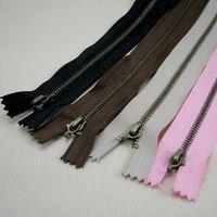 leather tools 3 3 copper zipper metal zipper 20cm bronze zipper belt puller 4 free shipping