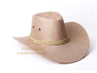 new fashion Dance hair accessory american cowboy hat faux leather cap dance performance cap sunbonnet