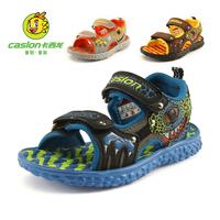 Children shoes sandals small 2014 male child sandals boys beach sandals  cutout open toe sandals size 26-30