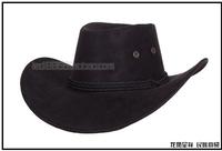 free shipping new fashion Dance hair accessory american cowboy hat faux leather cap dance performance cap sunbonnet
