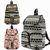 Free shipping Generic New Vintage Floral Ladies Canvas Bag/school Bag/backpack Backpack Rucksack Travel School College Bag