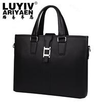 Commercial  Genuine Leather Briefcase shoulder bag handbag bag Men laptop bag casual bag