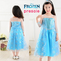 Frozen Elsa & Anna Costume Summer Dress For Girl 2014 New Princess  Brand Girls Dresses Children Clothing Kids Wear,Hot Sell